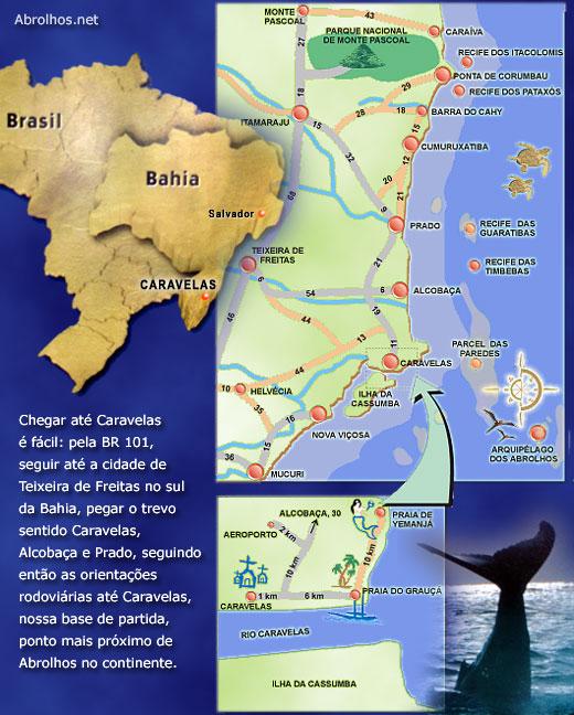 Costa Das Baleias Cidades E Praias Caravelas Alcobaca Prado